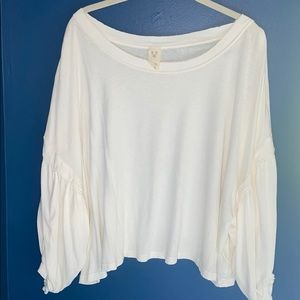 White Free People longsleeve